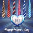 Happy Father's Day Vector Design — Stok Vektör #14046992