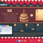Vintage Website design vector elements — Stock Vector #14047831