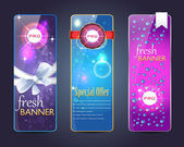 Pro Web banner vector set — Stock Vector