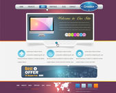 Website design vector elements — Vecteur