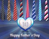 Projeto do vetor do dia dos pais feliz — Vetorial Stock