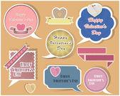 Collection de vecteur de discours bulles valentin — Vecteur