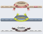 Web Elements Vector Header & Navigation Templates Set — 图库矢量图片