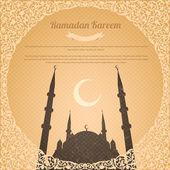 Ramadan kareem vector ontwerp oud papier achtergrond — Stockvector