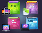 Numbered Information Business Web Banner Vector Design — Stock Vector