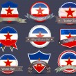 National flag badges set Yugoslavia - Stockvectorbeeld