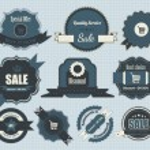 Retro Labels Design Vintage Sticker — Stock Vector