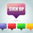 Vector Glossy Sign Up Icon Button and multicolored - Stockvectorbeeld