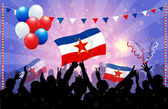 National Celebration Vector Yugoslavia — Stock Vector