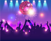 Party Background Vector Design — Cтоковый вектор