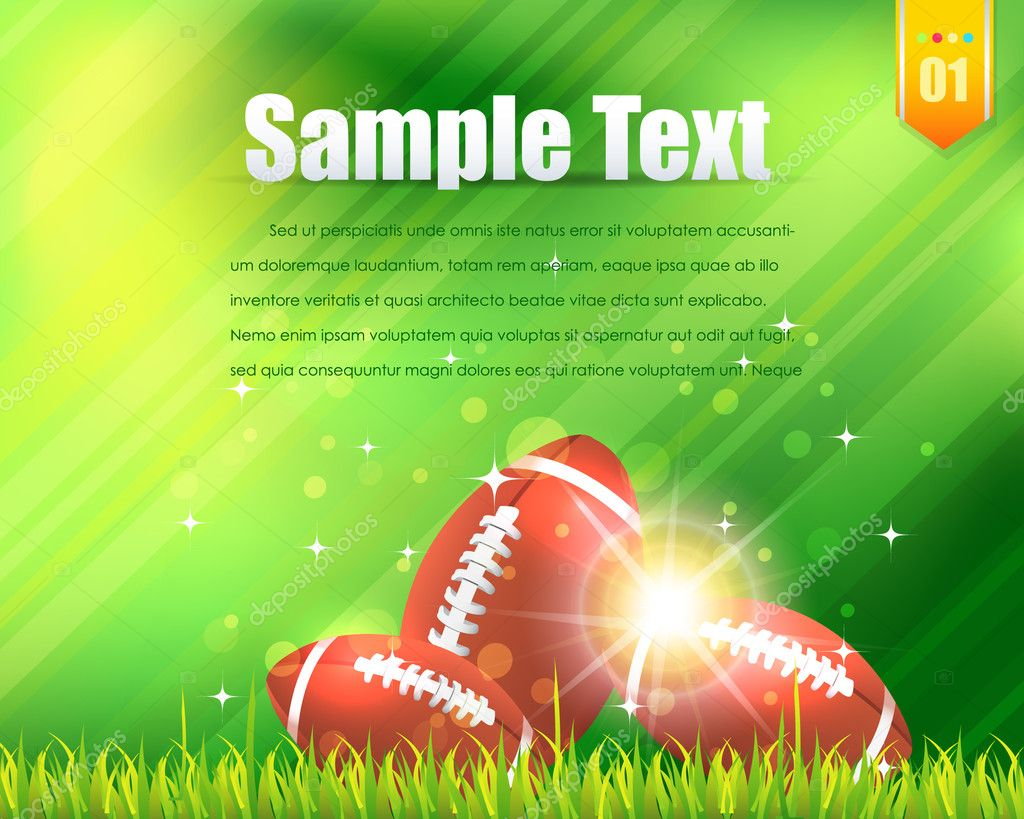 Vector football  Stock Vector #14648501