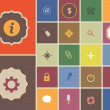 Vintage Style Multicolored Web Icon Set 01 — Stockvektor #14651745