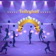 Abstract Background Volleyball Vector Design — Stock Vector