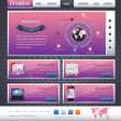 Website design vector elements — Stock vektor