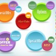 Set of colorful vector Icon Banner Shape — Vettoriale Stock #14653149