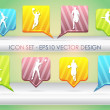 Multicolored vector icon set - Stock Vector