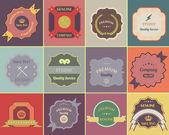 Retro Labels Vector Design Vintage Colorful — Stock Vector