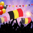 Stock Vector: National Celebration Vector Belgium