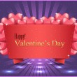 Valentine Day background vector — Stockvectorbeeld