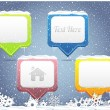 Set of Vector Banner Button - Winter Web Elements — Stock vektor