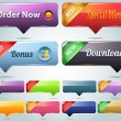 Vector Web Buttons Set — Stock Vector