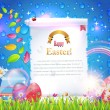 Happy Easter Background Banner Card Vector — Vektorgrafik