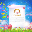 Happy Easter Background Banner Card Vector — Stockvectorbeeld