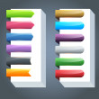 Multicolored Vector Ribbon Set — Image vectorielle