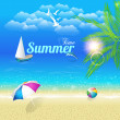 Summer Time Vector Design — Stockvektor
