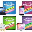 Colorful Web Banner Vector Set — Stock Vector