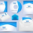 Corporate Identity Template Vector Design Ocean Style - Imagen vectorial