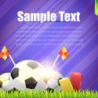 Football Background Template Vector Design — Imagens vectoriais em stock