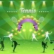 Tennis Shield Vector Design — Stockvectorbeeld
