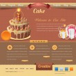 ストックベクタ: Vintage Website design vector elements