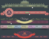 Web Elements Vector Header Navigation Templates Set — Stockvektor