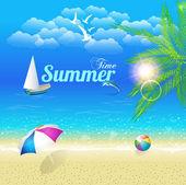 Summer Time Vector Design — Stock Vector