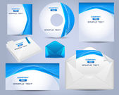 Corporate Identity Template Vector Design Ocean Style — Cтоковый вектор