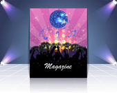 Magazine Dance Club Flyer Vector Template — Vettoriale Stock