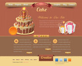 Vintage Website design vector elements — Vector de stock