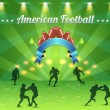 American Football Vector Design - Vettoriali Stock