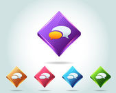 3d Diamond Multicolored Support Vector Icon — Stock Vector