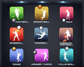 Sports Set Apps Vector Icon — Stock Vector