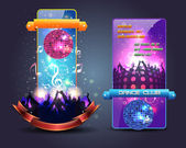 Dance Party Banner Background Flyer Templates Vector Design — Stok Vektör