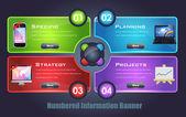 Numbered Information Banner Vector Design — Stock Vector