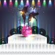 Dance Party Banner Background Flyer Templates Vector Design — Imagens vectoriais em stock