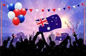 National Celebration Vector — Stock Vector