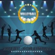Stockvector : Volleyball Vector Background