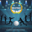 Volleyball Vector Background - Stockvectorbeeld