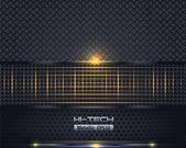 Hi-Tech Metallic Background — Stock Vector