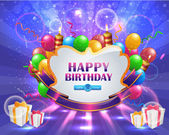 Vector Illustration of Happy Birthday Card Design — Wektor stockowy